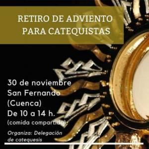 La Delegación de Catequesis y Catecumenado organiza un Retiro de Adviento para el 30 de noviembre
