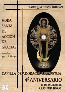IV Aniversario del inicio de la Adoración Eucarística Perpetua en Cuenca