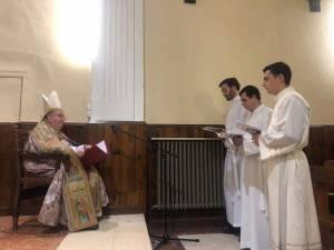 Rito de Admisión de los seminaristas Javier, Felipe y César