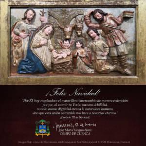 Felicitación Navideña de Monseñor José María Yanguas, Obispo de Cuenca